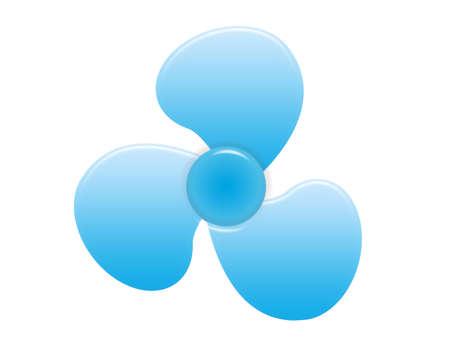 blue prop ventilator isolated over white background.illustration  Stock Illustration - 9709530