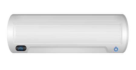 white air conditioning isolated over white background photo