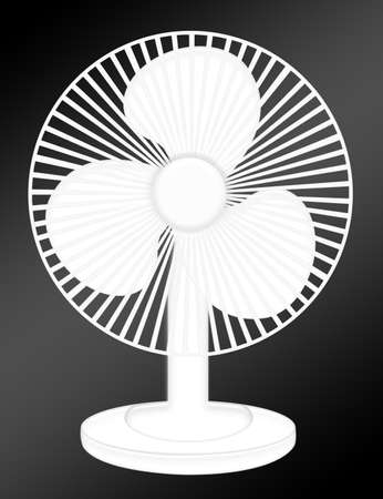 axial: white ventilator isolated over black background.illustration Stock Photo