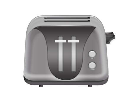 black toaster isolated over white background.illustration illustration