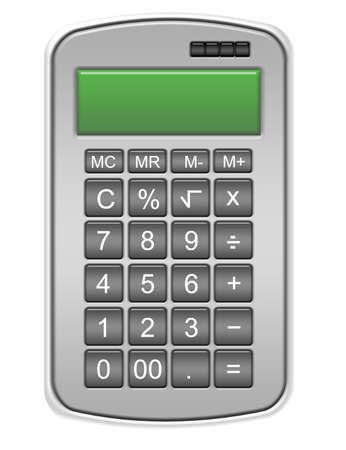 gray calculator isolated over white background.illustration Stock Illustration - 9853620