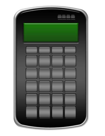 black calculator without numbers isolated over white background  photo