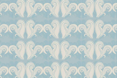 beige ornaments vector over blue background. illustration Vector