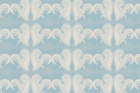 beige ornaments vector over blue background. illustration Vector