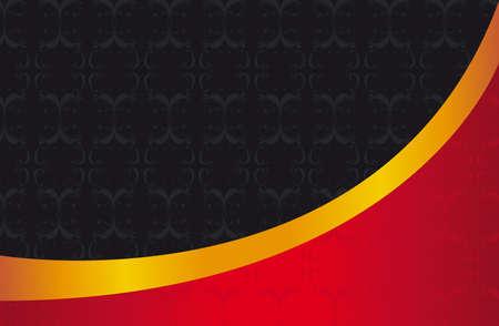 advertising design: black,red and gold ornaments elegant background.