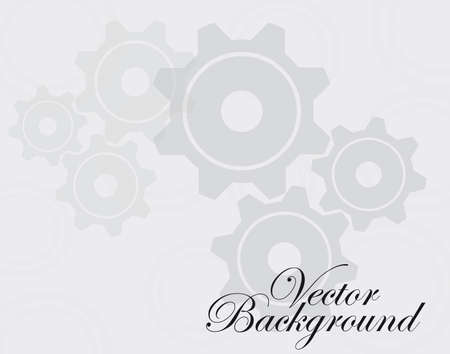 gray and white gears over gray and white background. Stock Vector - 10110185