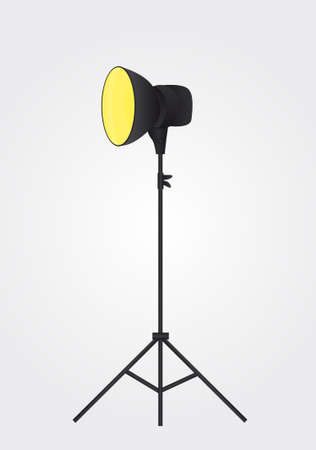 reflector: black light photography over gray and white background. vector