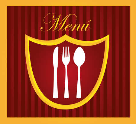 restaurant menu design with cutlery background. vector Stock Vector - 10768565