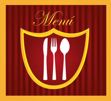 restaurant menu design with cutlery background. vector Stock Vector - 10768565
