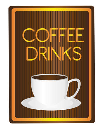 coffee driks with coffe cup  tag isolated over white background. vector Stock Vector - 10768326