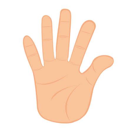 mani cartoon: fermare la mano isolato su sfondo bianco. vettore