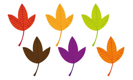 colorful leaves isolated over white background. vector Stock Vector - 10768453