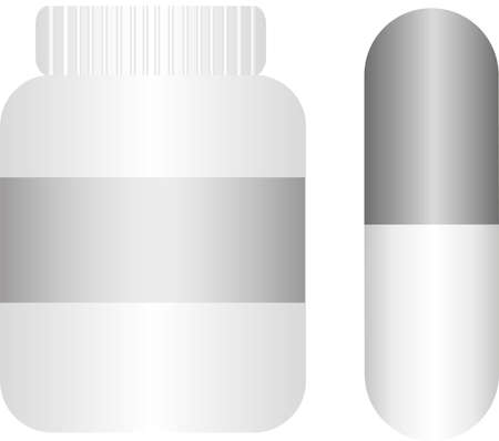 pills with bottle isolated over white background. vector Stock Vector - 10768242