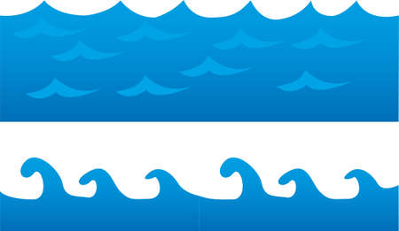 tidal wave: blue sea cartoon isolated over white background. vector