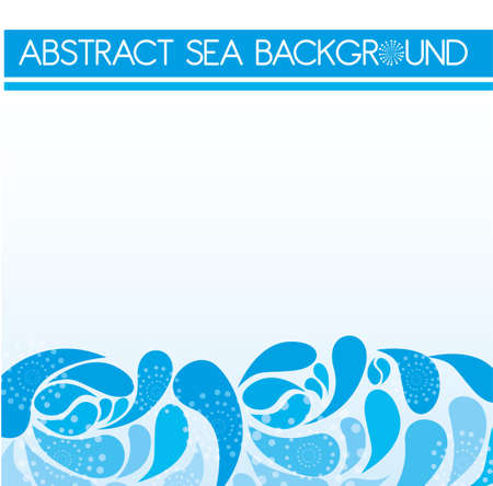 blue abstract sea over sky background. vector Vector