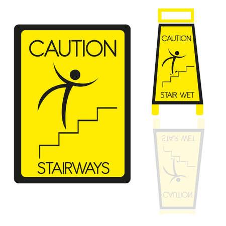 stairways sign isolatd over white background. vector Stock Vector - 10768456