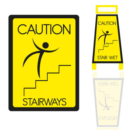 isolatd: stairways sign isolatd over white background. vector Illustration