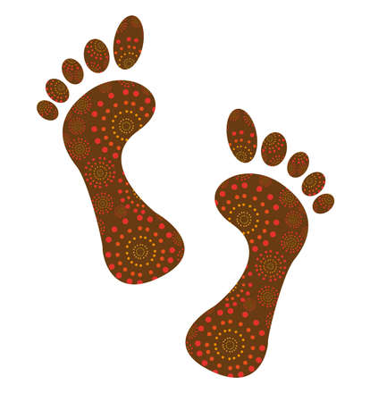 foots: brown cute foots isolated over white background. vector Illustration