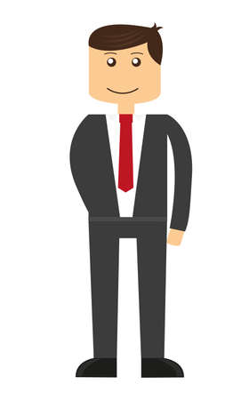 businessman cartoon with tie isolated over white background. vector Vector