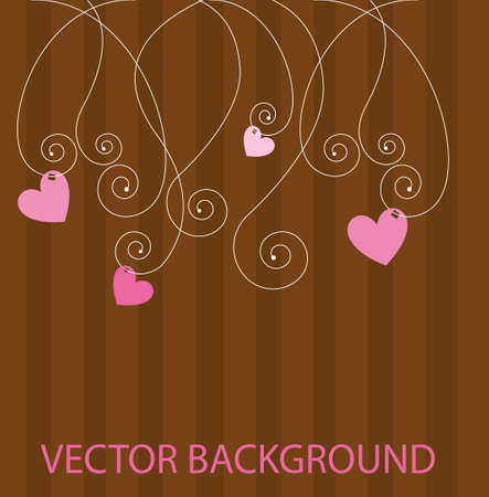 pink cute abstract background with hearts. vector Stock Vector - 10768217