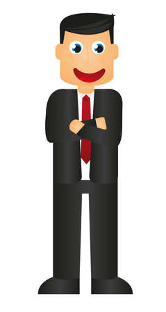 cartoon businessman: businessman cartoon isolated over white background. vector Illustration
