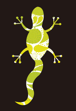 iguanas: abstract lizard isolated over black background. vector Illustration