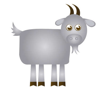 goat cartoon isolated over white background. vector Vector