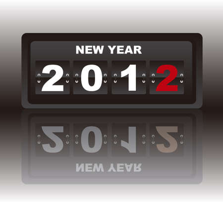 mechanical board with 2012 text with shadow background. vector      mechanical board of new year with shadow background. vector     Vector