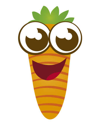 carrot cartoon isolated over white background. vector Stock Vector - 10768216