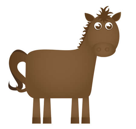 horse cartoon isolated over white background. vector  Vector