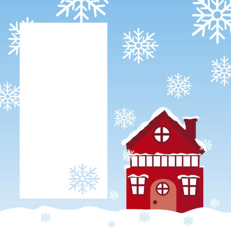 winter landscape with space advertising background. vector Stock Vector - 10768601