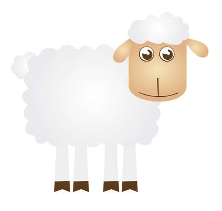 sheep cartoon isolated over white background. vector  Stock Vector - 10768334