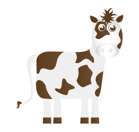 cow cartoon isolated over white background. vector Stock Vector - 10768330
