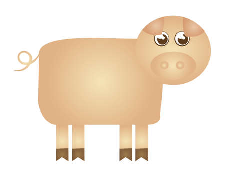 piggy cartoon isolated over white background. vector  Vector