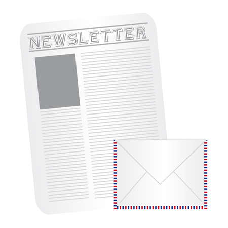 lately news: white,gray,blue,red newspaper and envelope cartoon isolated. vector