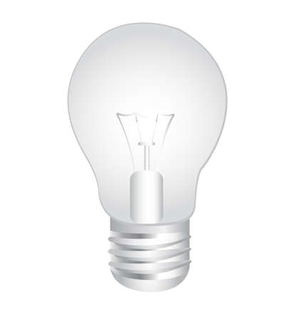 gray bulb: gray electric bulb  isolated over white background. vector