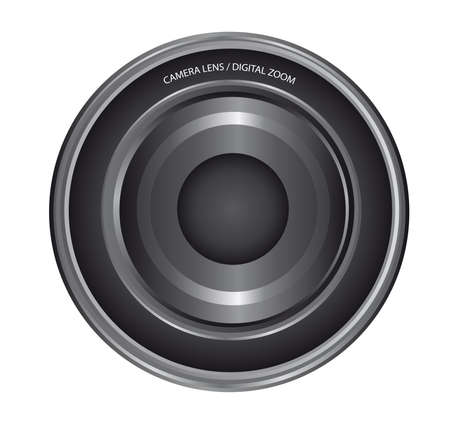 gray and black lens camera isolated over white background. vector Stock Vector - 10799594