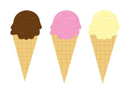 scoop: ice cream cartoon isolated over white backgroud. vector
