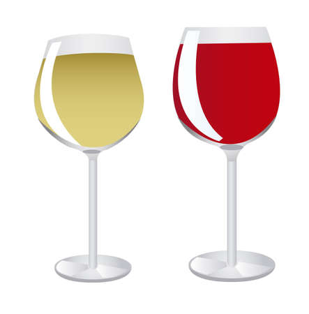 wine cup isolated over white background. vector Banco de Imagens - 10851283