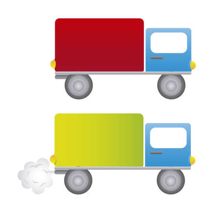 trucks cartoons isolated over white background. vector Stock Vector - 10851271