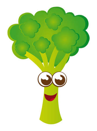 broccoli cartoon isolated over white background. vector