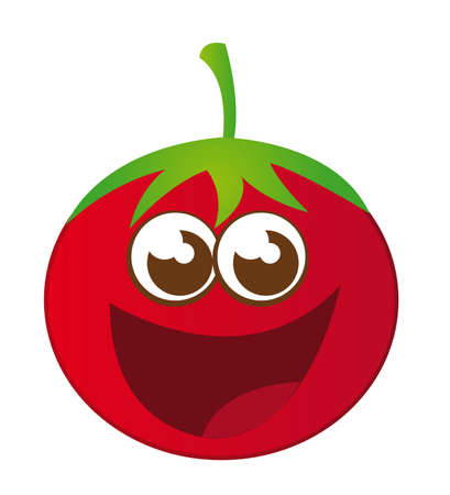tomato cartoon isolated over white background. vector Vector
