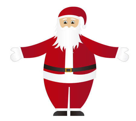 santa claus cartoon isolated over white background. vector Stock Vector - 10942477