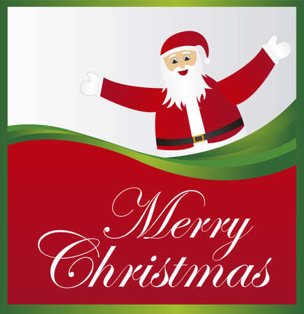 merry christmas with santa claus background. vector Stock Vector - 10942499