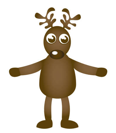 red nose: reindeer cartoon isolated over white background. vector