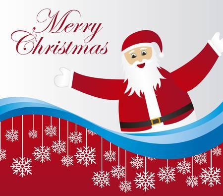 santa claus cartoon  with snowflakes background. vector Stock Vector - 10942500