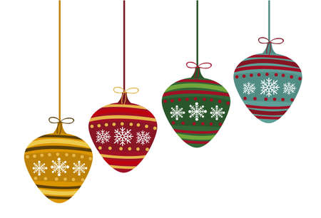 christmas balls isolated over white background. vector Stock Vector - 11017968