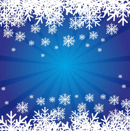 blue christmas background with white snowflakes. vector Stock Vector - 11102532
