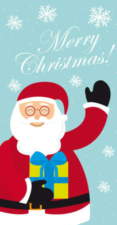 santa claus with gift, merry christmas. vector Stock Vector - 11102499