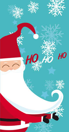 happy santa claus over blue background. vector Stock Vector - 11102510
